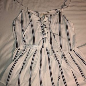 LIKE NEW Lace up peplum-style top from Pacsun